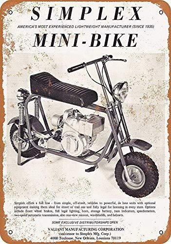 Wild boy Simplex Mini-Bike Arte della Parete in Metallo Targa Avvertimento Manifesto degli museo...