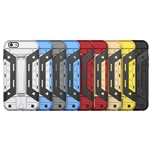 Forepin® 2 EN 1 Coque Étui Case Pour iPhone 6 / 6S, Ultra Slim avec Stand fonction Housse Béquille Support Intégrée TPU PC Cover Or