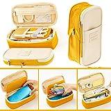 Pencil Case,HunptaBig Capacity Pencil Pen Case Bag for Middle High School Office College Girl (D)