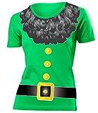 Zwergkostüm Zwerg Kostüm Kleidung 4515 Damen T-Shirt Frauen Karneval Fasching Faschingskostüm Karnevalskostüm Paarkostüm Gruppenkostüm Grün S