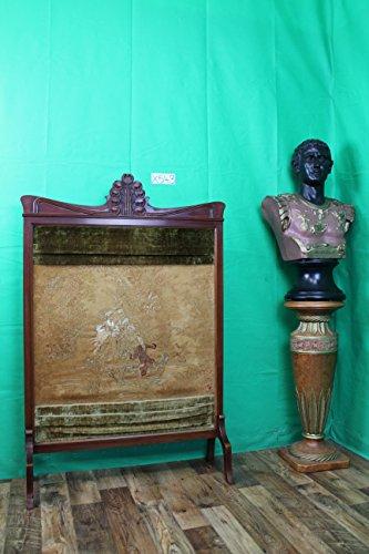 Grünwald-Shop asiatischer Biombo Separador para Antiguo 19jh con Bordados Separador de Terciopelo Antiguo Madera Maciza China Japón Asia
