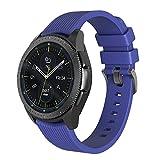 NotoCity Kompatibel Armband Galaxy Watch (42mm) Ersatz Silikon Uhrenarmband für Gear S2 Classic R732/Gear Sport Watch/Vivoactive 3