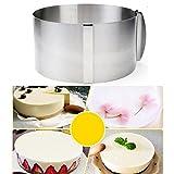BESTONZON Anelli per torte,Stampo Circolare Per Torte Graduato Anello Regolabile per Torte Tonde in Acciaio Inox Diametro 16 - 30cm