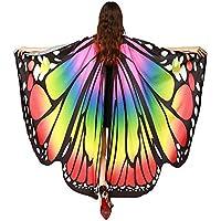 SERWOO Chal Alas Mariposa Estolas Duendecillo para Mujer Capa de Muchacha Accesorio para Disfraz Playa Fiesta (Multicolor)