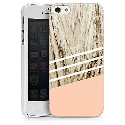 Apple iPhone X Silikon Hülle Case Schutzhülle Holz Look Pastell sweetsunday Hard Case weiß