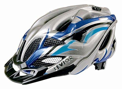 levior-fahrradhelm-opus-visor-grosse-m-kopfumfang-52-57-cm-anthrazit-blau-formschoner-und-hochwertig
