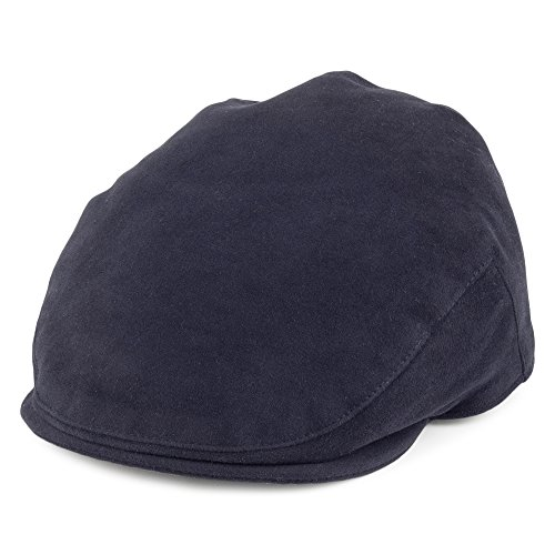 Village Hats Casquette Plate en Moleskine bleu marine CHRISTYS