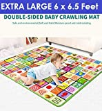 Zofey Baby Mat Waterproof Extra Large Size for Safety (Assorted Design) 6 Feet