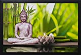 #2: PAF Buddha Painting exclusive Framed Wall Art Paintings Framed size (12 inch x 18 inch, (Wood 30 cm x 2 cm x 48 cm, Special Effect Textured)