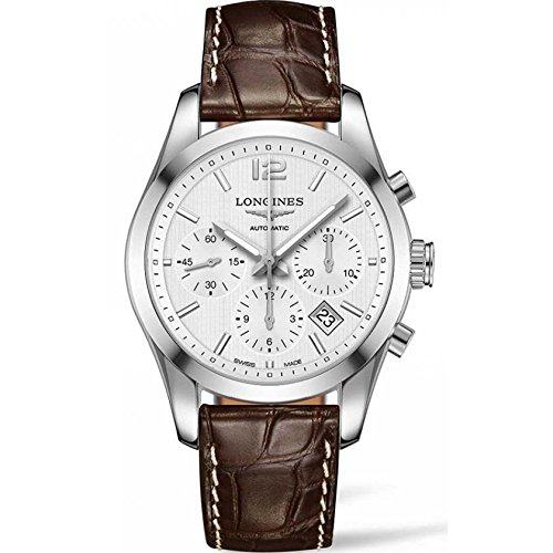 LONGINES MEN'S 41MM LEATHER BAND STEEL CASE AUTOMATIC WATCH L2.786.4.76.3