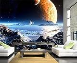 Vliestapete Neuer Planet VT441 Größe:400x280cm, Fototapete, Vlies Tapete, High Quality, PREMIUM Bildtapete, Space Weltall Mond