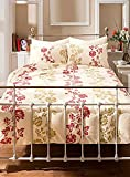 Marlow Matalic printed Bedding bed set Red/Gold Single