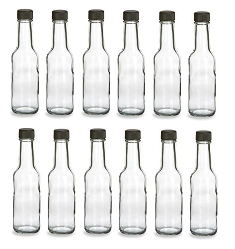 nakpunar 5Oz Glas Woozy Flaschen-Fall 12Stück