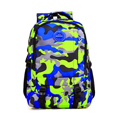 Wmshpeds Borsa a tracolla all'aperto Alpinismo Pack Camouflage grande borsa da viaggio zaino Computer B