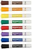 AmazonBasics - Trocken abwischbare Whiteboardmarker, geruchsarm, mit Keilspitze, 8er-Pack, farblich sortiert
