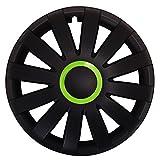 (Größe wählbar) 15 Zoll Radkappen / Radzierblenden AGAT RACE GRÜN passend für fast alle Fahrzeugtypen – universal