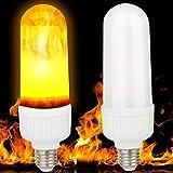E27 9W LED Flamme Feuer Licht, YouGer Effekt simuliert Natur Mais Zwiebeln Decor Lampe (A)