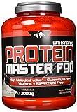 BWG Protein Master F90, Eiweißshake mit BCAA`S und Glutamin, Muskelaufbauphase, Deluxe Proteinshake Strawberry, Dose mit Dosierlöffel, Muscle Line, 1er Pack (1 x 3000g)