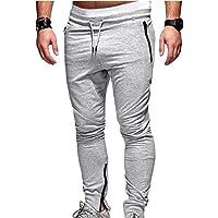 junkai Abbigliamento Sportivo da Uomo Casual Fitness Pantaloni da  Allenamento Slim Pantaloni da Allenamento da Jogging 38c31e813032