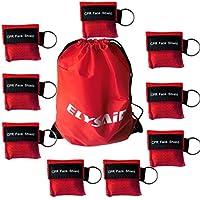 100 PCS CPR máscaras faciales Unidireccionales de rescate de válvula de válvula de boca Kits de emergencia Kits de llavero para primeros auxilios o entrenamiento