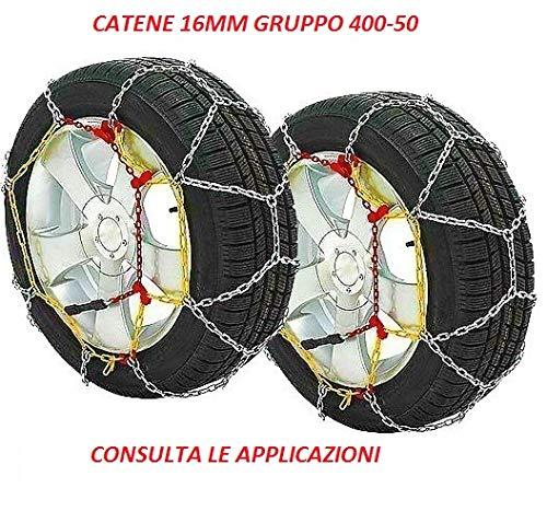 RICAMBIITALIA2017 Catene da Neve 16 mm Adatto per SUV E Fuoristrada Gruppo 400-50 Monta su GOMME 215 R15-700 R15-205 R16-650 R16-7 R17.5-215/75 R15-225/75 R15-205/80 R16-205/75 R16-225/60 R15