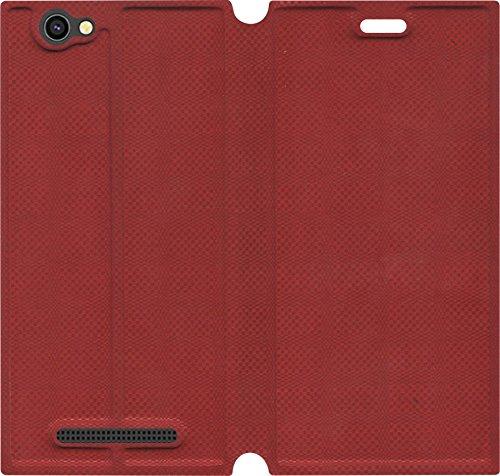 Xolo Era 1X Flip Cover (Red)