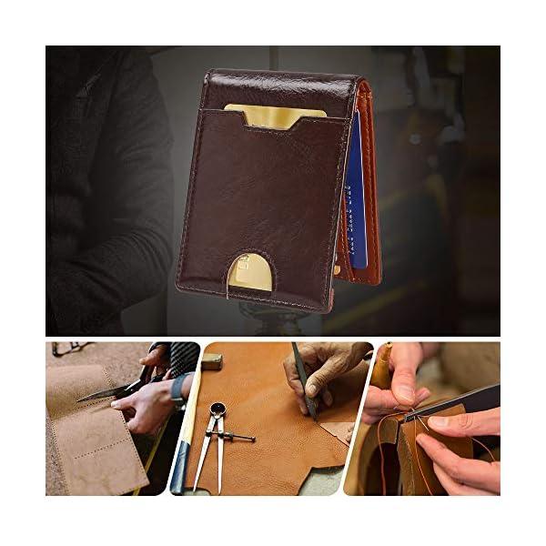 flintronic Portia Carte di Credito e Tasche Pelle, RFID/NFC Blocco Portafoglo, (1 Scomparto Con Cerniera, 6 Slot Per… 5 spesavip