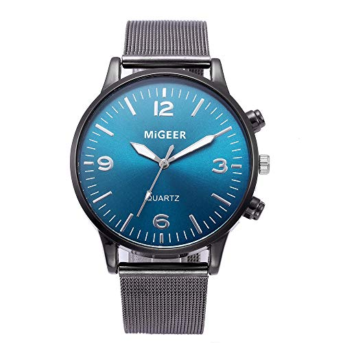 Celucke Uhr Herren Armbanduhr mit Edelstahl Mesh Armband, Männer Klassisch Quarzuhr Analog Business Uhren Elegant Minimalistische Herrenarmbanduhr