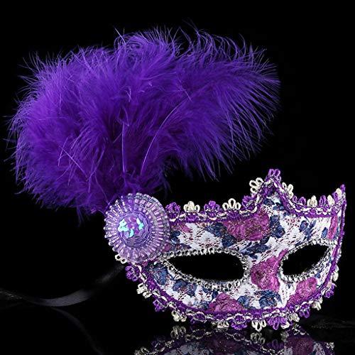 Mask- Halloween Maske Lady Venedig Spitze Sexy Party Brille für Frauen und Kinder (Farbe : A)