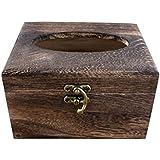QWASZX Caja De La Toalla De Múltiples Funciones Caja Del Cajón Retro Caja De Madera Práctico El Tejido