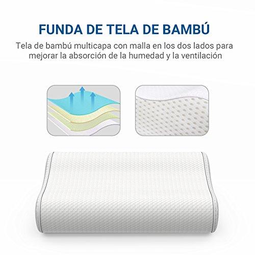 almohada cervical con tela de bambú