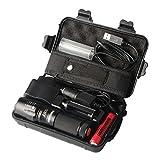 Shadowhawk X800 LED Taschenlampe, Super Helle 900 Lumen CREE L2 LED, 5 Licht Modi, Wiederaufladbare Taschenlampe mit Zoom für Camping, Wandern und Notfälle ( Inklusive 18650 Batterie ) (B)