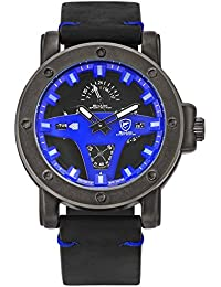 SHARK hombre deportivos Cuarzo relojes de pulseras Día Fecha 24 horas Monitor Segunda mano Cuero SH456