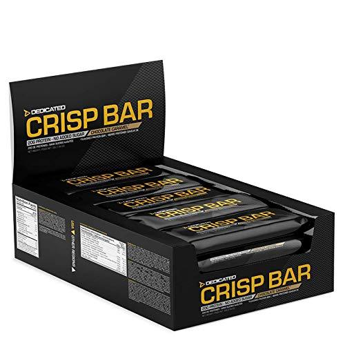 Knusprige 15 Protein (Dedicated Nutrition Crisp Bar Proteinriegel Eiweißriegel Whey 15x55g (Caramel Peanuts))
