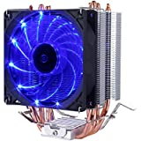 upHere CPU Cooler 4 heatpipes ventilateurs de 120mm ultra silencieux bleu