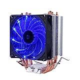 upHere Prozessorkühler mit 92 mm PWM Lüfter - CPU Kühler für AMD und Intel Sockel bis zu 200 Watt Kühlleistung - Multkompatibel- Mit voraufgetragener MX-4 Wärmeleitpaste
