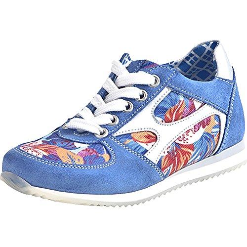 LEA Maedchen Schnuerschuhe, Sneakers blau, 540078-5 blau