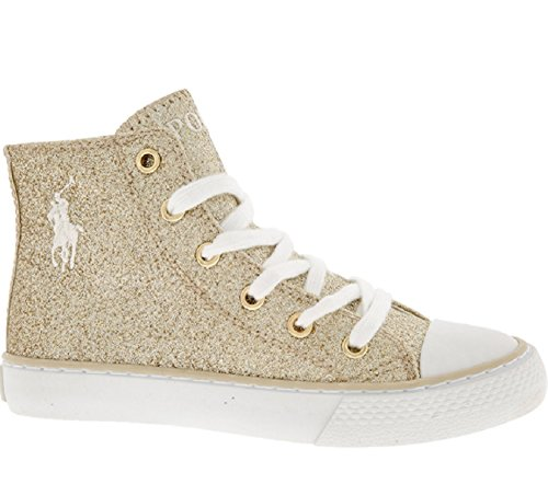 Ralph Lauren Polo Gold Glitter Marson High Top Sneakers UK 11,5EUR 29