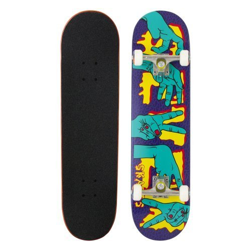 SEVEN SKATE SKATEBOARD HANDS - SKATEBOARD ( BOLAS  EJES  TABLAS )   COLOR (PURPLE/GREEN)  TALLA 7 8 ZOLL