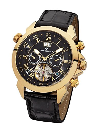 Automatic Marco Polo Gold Black Theorema Germany leather with 35 jewels