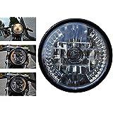 Nero Motocicletta led fanale con integrato frecce led d. 7 pollici 12V 35W Progetto Di Personalizzazione Cafe Racer…