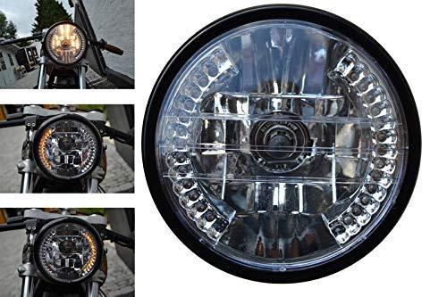 skuntuguang 5 pouces 2 Pc Moto LED Phare pour Harley Davidson Fat Bob