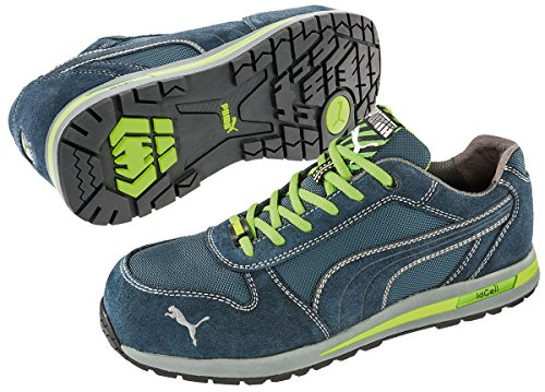Puma Scarpe da lavoro, con punta protettiva, S1P traspirante blau, hellgrün