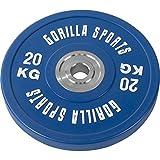 GORILLA SPORTS Olympia-Hantelscheiben 50/51 mm Urethan - Bumper Plate 20 kg