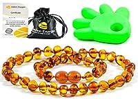 Ce très beau collier en ambre est fabriqué à partir d'Ambre de la Baltique de très grande qualité. Chaque perle est constituée d'Ambre de la Baltique véritable dont la taille, la couleur et la forme peuvent varier. La longueur du bracelet varie aussi...