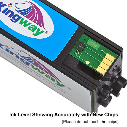 Compare Prices for Kingway 973X Ink Cartridges for HP 973X Inks Cartridge L0S07AE Compatible with HP PageWide Pro 452dwt 477dwt Printer Black/Cyan/Magenta/Yellow 4 Pack Discount