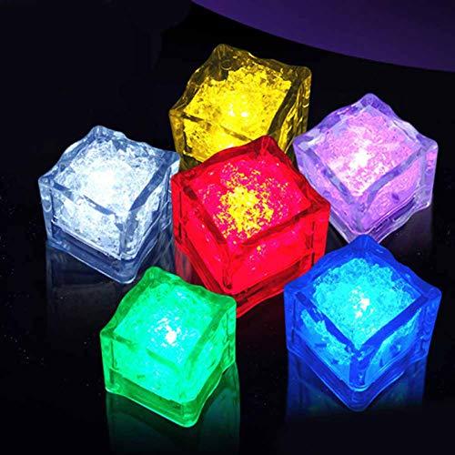 dfgjdryt Bunte 1 Stück Wasser tauchbar blinkende LED s blinkende Bunte Lichtersteine für Zuhause Dekoration (Keine Farben)