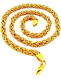 Chain For Men(Alloy Gold Plated Latest Men's Chain) - B074H3Q62Z