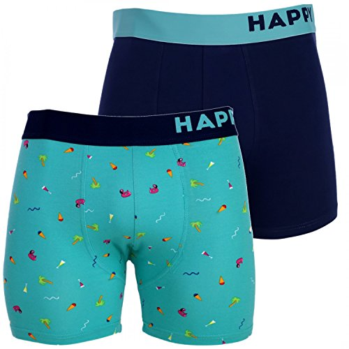 Happy Shorts 2 Pants Herren Boxershorts Boxer witzige Designs Farbwahl, Grösse:M - 5-50, Präzise Farbe:Design 4