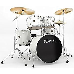 Tama Rhythm Mate Stile Giocattolo Set (5pezzi) con 50,8cm (20pollici) BASS DRUM incluso dreiteiligem Set di piatti/6pezzi hardware, bianco